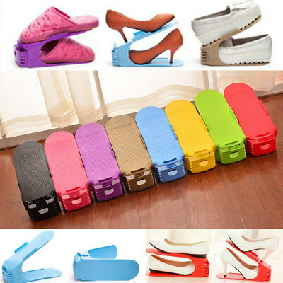 New Multi-colored Display Rack Shoes Organizer Space-Saving Plastic Rack Storage