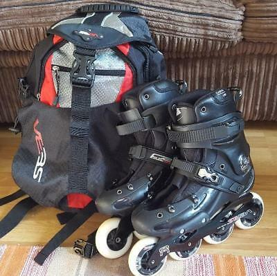 Seba Freeride FR 1 '14 Inline Skates black size 6 with Seba Backpack small