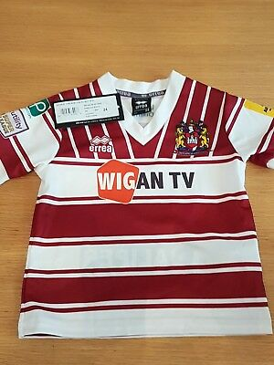 Wigan Warriors Rugby League Shirt 24 child's new with tags