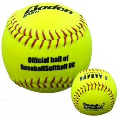 Baden SF12Y Softball Sports Hi Vis BSF Safety Level Balls For Beginners Player