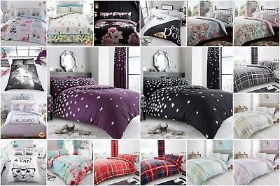 New Luxury Duvet Quilt Cover Set With Pillow Cases Bedding Single Double King