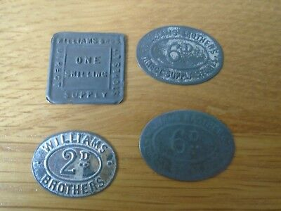 William Brothers Direct Supply Co 4 Tokens Nice examples see pictures