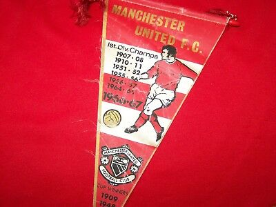 Manchester United 1960's pennant