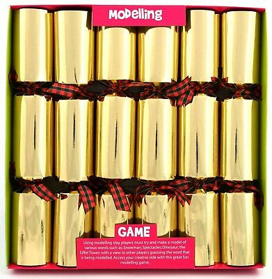 "6 x 12"" Play Dough Modelling Game Christmas Crackers"