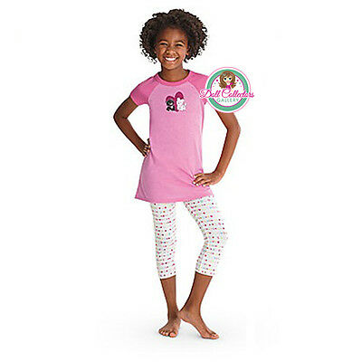 American Girl CL MY AG I LOVE PETS PAJAMAS XS (6) for Girls Coconut Licorice NEW
