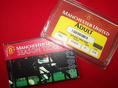 Manchester United season ticket 1999/2000