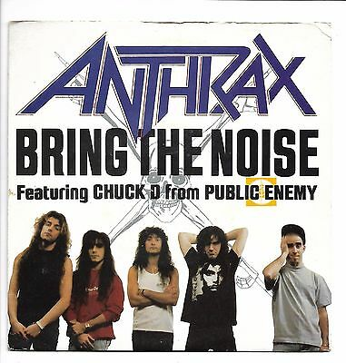 "Anthrax (feat. Chuck D from Public Enemy) ‎– Bring The Noise 7"" one sided etched"