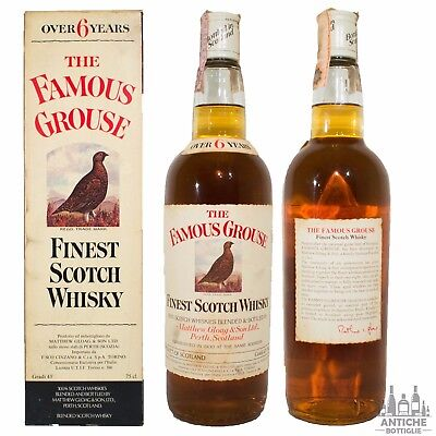 The Famous Grouse Finest Scotch Whisky 6 Years Old Anni '50/'60 75 Cl 43°