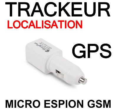 Chargeur Espion Voiture Usb Micro Trackeur Traceur Tracer Gsm Localisation Gps