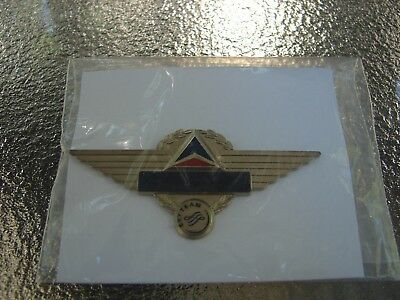 Delta Air Lines - Vintage Flight Attendant Name Tag Wings - New