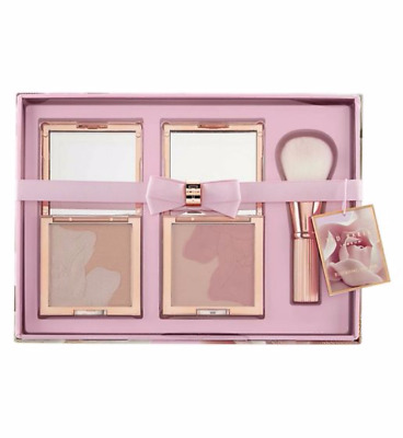 Ted Baker Blushing Bloom Bronzing Collection Christmas Gift Set Compact Brush
