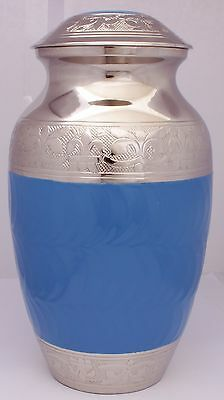Adult Cremation Urn For Ashes Large Blue Memorial Remembrance Ash Container urn