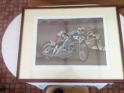 Framed Speedway Print - A Pride Of Lions