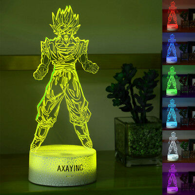 Dragon Ball Z Son Goku 3D illusion LED Night Light Touch Table Desk Lamp 7 Color