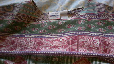 Damart Vintage women's summer dress, ethnic patterned  large size 10/12