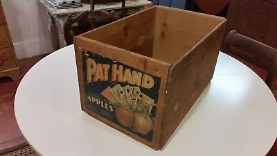 Rare! 1950s Vintage Pat Hand Wood Apple Crate, Hansen Fruit, Yakima, Washington