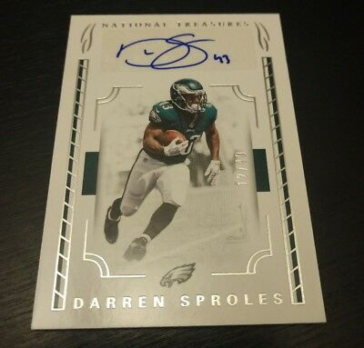 2016 National Treasures Darren Sproles Auto 12 /49 Eagles