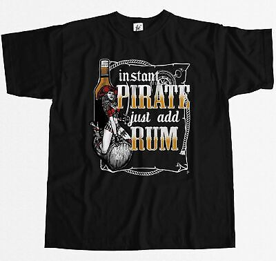 Instant Pirate Just Add Rum - Sexy Captain Pirate Mens T-Shirt