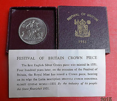 George V1 1951 Crown In Maroon Box And Coa Very Nice Rare Coin