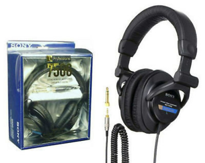 MDR-7506 Professional Closed-Ear Back Large Dynamic Studio Audio Headphones 3333
