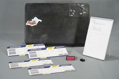 The Foreigner Woody Screen Used Laptop Boarding Pass & Notebook
