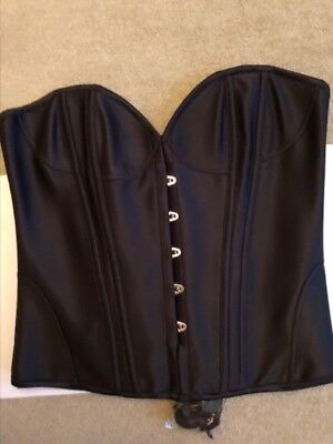 L'Agent by Agent Provocateur 'PENELOPE' Black Satin Corset in XL - BNWT