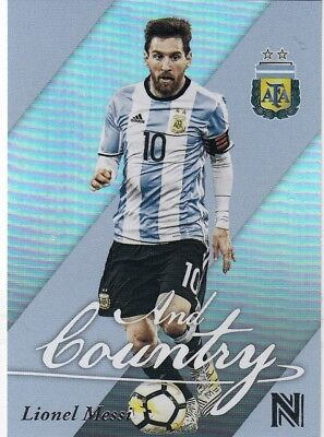 2017 Panini Nobility Soccer Lionel Messi And Country Insert Card
