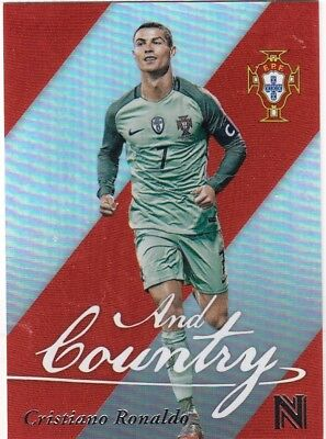 2017 Panini Nobility Soccer Cristiano Ronaldo And Country Insert Card