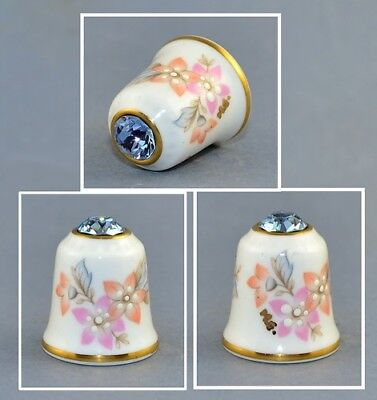 Sutherland Jawel Crowned Flower Swarovski Top Thimble # 1
