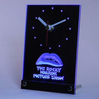 The Rocky Horror Story Table Desk Clock Watch Time 3D LED Neon Light Bed Bar Pub