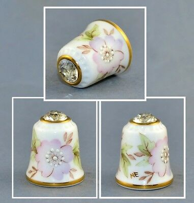 Sutherland Jawel Crowned Flower Swarovski Top Thimble # 4