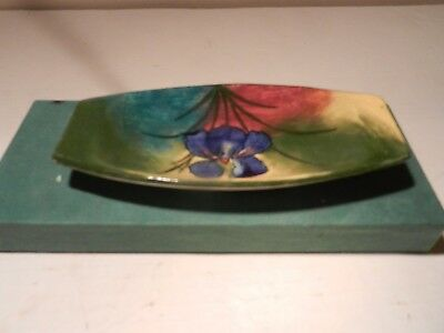 Wemyss Pottery Pin Tray or Vanity Tray Dish Decorated Pansy