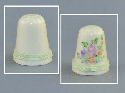 Irish Dresden Flowers Hand Painted Thimble