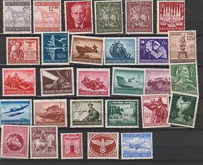 Germany reich 1944,1945 lot MNH stamps