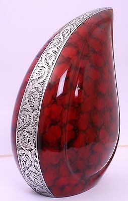 Adult Cremation Urn for ashes, Funeral Memorial Teardrop  large minor scratches