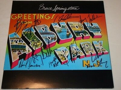 BRUCE SPRINGSTEEN Hand Signed GREETINGS FROM ASBURY PARK Album w/COA signed by 8