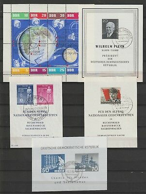 Germany DDR 1955-1963, block 11,14,16,18 1962 space total €200