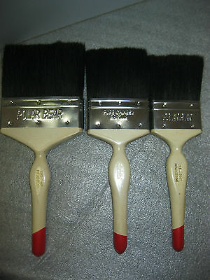 Set of 3- Vintage Polar Bear Brand  Paint Brushes  Size 2 1/2''-3''--4'' inches