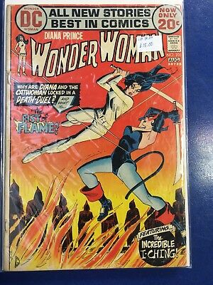 WONDER WOMAN #201 1972-girl fight cover-DC BRONZE AGE-fn