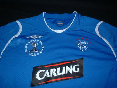 Glasgow Rangers Football XL Extra Large Mans Boyd 9 Scottish Cup Final 2009 Top