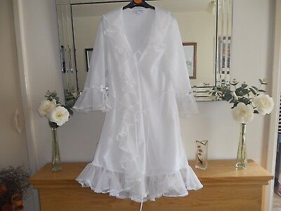 Vintage Double Layer Gown Sheer Nylon Nightdress Robe 34-36 St Michael Negligee
