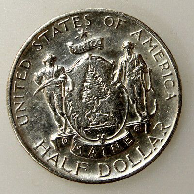 1920 50C Maine Centennial Silver Commemorative