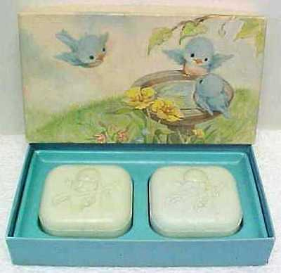 Vintage HALLMARK Bluebird Scented Guest Soaps - Gift Boxed Set