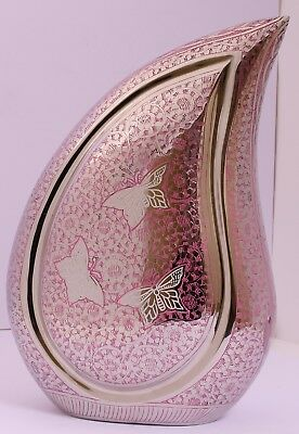 Cremation Urn for Ashes, Funeral Memorial young Adult child Teardrop Pink Urn