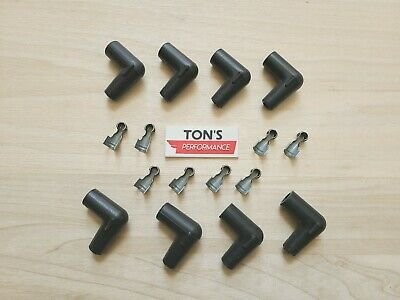 Single 45 Degree Spark Plug Wire Boot And Terminal Taylor Wire 8mm DIY kit