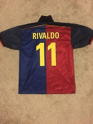 Rivaldo Barcelona Short Sleeve Shirt (1998-99 Season)