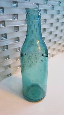 Rare Blackwoods Limited Aqua Glass soda beer bottle Winnipeg Manitoba Canada
