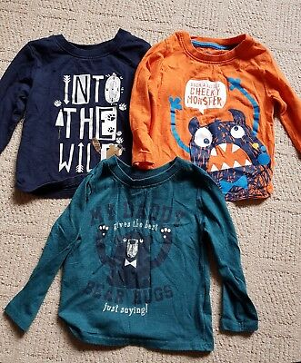 Boys long sleeve top bundle 18-24 months