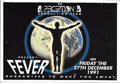 Perception - Fever Rave Flyer 1991 - Grooverider Ellis Dee DJ Ratty