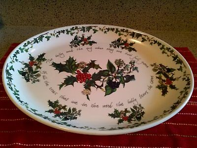 PORTMEIRION THE HOLLY & THE IVY Turkey platter 20""